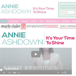 Annie Ashdown Website and Promotional Material