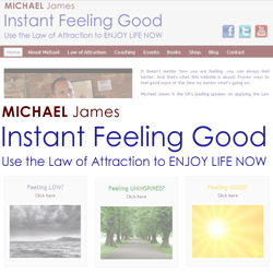 Michael James Website with Store