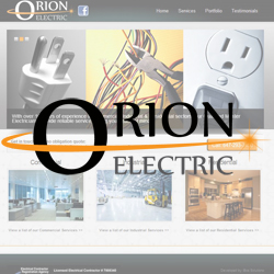 Orion Electric Branding and Website